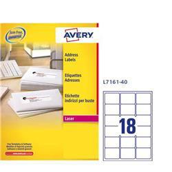 Etichette adesive avery per indirizzi quickpeel 63,5x46,6 mm 7