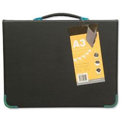 Presentation Case Vinyl Metal Trim Capacity 25 Sleeves 3 Ring A3 Black