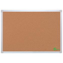 Image of 5 Star Eco Cork Board with Wall Fixing Kit Aluminium Frame - 940597