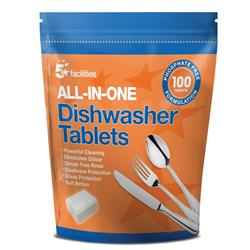 Image of 5 Star Facilities All-in-one Dishwasher Tablets [Pack 100] - 940479