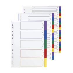 5 Star Elite File Dividers Multicoloured Tabs Polypropylene 5-Part A4 White