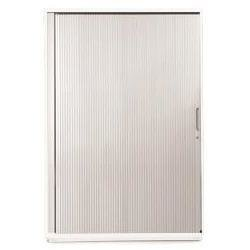 Sonix Tambour Door Cupboard Midi Polar White/Silver