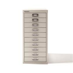 Bisley 10-Drawer SoHo Multidrawer Storage Cabinet Steel W279xD408xH590mm Chalk White Ref H2910NL-26