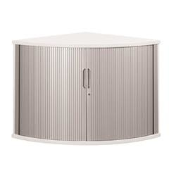 Sonix Tambour Corner Cupboard 800mm Polar White