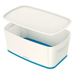Leitz MyBox Storage Box Small with Lid Plastic W318xD19xH128mm White/Blue Ref 52294035