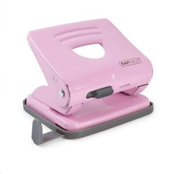 Rapesco 825 Hole Punch 2 Hole 25 Sheets Pink Ref 1358