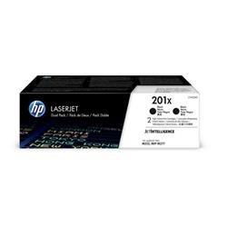 Hewlett Packard[HP] No.HP201XL Toner Cartridge High Yield Page Life 700pp Black Ref CF400XD [Pack 2]