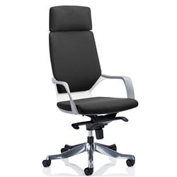 Adroit Executive Chair Static Arms Flat Packed Fabric Black Ref KC0226