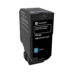 Lexmark CS720 series Toner Cartridge Return Program Page Life 7000pp Cyan Ref 74C2SC1