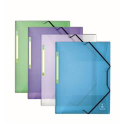 Elba 2nd Life 3-Flap Folders Recycled Polypropylene A4 Assorted Ref 400066419 [Pack 4]