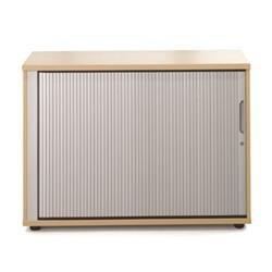 Sonix Tambour Door Cupboard Low Acer Maple