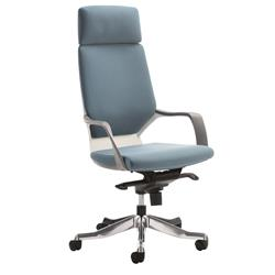 Adroit Executive Chair Static Arms Flat Packed Fabric Blue Ref KC0227