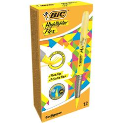 Bic Grip Pen-shaped Highlighter Yellow Ref 942040 [Pack 12] - 3 for 2