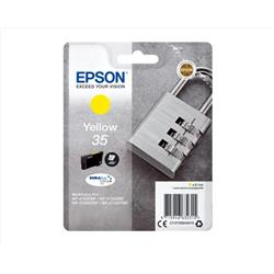 Epson Padlock 35 T3584 (Yield 650 pages) DURABrite Ultra Yellow 9.1ml Ink Cartridge Ref C13T35844010
