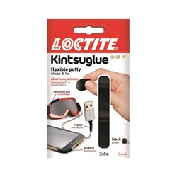 Loctite Kintsuglue Waterproof Flexible Putty to Repair Objects 3x5g Black Ref 2239182