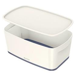 Leitz MyBox Storage Box Small with Lid Plastic W318xD19xH128mm White/Grey Ref 52294000