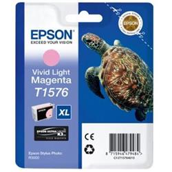 Epson T1576 Inkjet Cartridge Turtle 25.9ml Vivid Light Magenta Ref C13T15764010