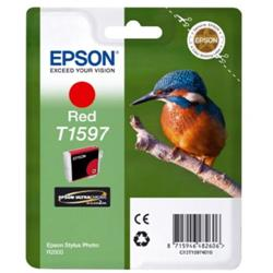 Epson T1594 Inkjet Cartridge Kingfisher 17ml Red Ultra Chrome Ref C13T15974010