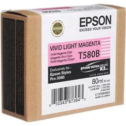 Epson T580B Inkjet Cartridge 80ml Vivid Light Magenta Ref C13T580B00