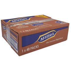 McVities Milk Chocolate Digestives Biscuits Twinpack Ref A07384 [Pack 48]