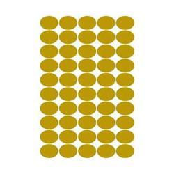 Foto conf. 100 Etichette satinate oro ovali - 36x27 Tico GL4-3627 Mini etichette rotonde