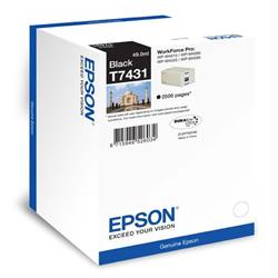 Epson T7431 Black Ink Cartridge (Yield 2500 Pages) for WorkForce Pro WP-M4000/WP-M4500 Series Inkjet Printers