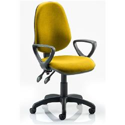 Eclipse II Lever Task Operator Chair Sunset Colour Fabric With Loop Arms Ref KCUP0835