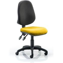 Eclipse II Task Operator Chair Sunset Colour Seat Fabric Without Arms Ref KCUP0237