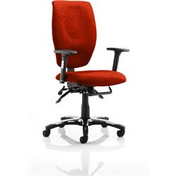 Sierra Task Operator Chair Pimento Colour Fabric With Arms Ref KCUP0779