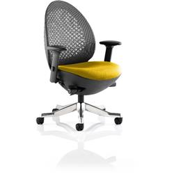 Revo Task Operator Chair Sunset Colour Seat With Arms Ref KCUP0717