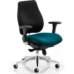 Chiro Plus Posture Chair Kingfisher Colour Seat With Arms Ref KCUP0159