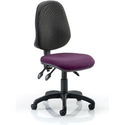 Eclipse III Task Operator Chair Purple Colour Seat Without Arms Ref KCUP0272