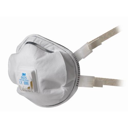 Foto Respiratore 8825 3M - polveri, fumi e nebbie - bianco - conf. 5 Respiratori FFP2