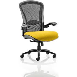 Houston Task Operator Chair Mesh Back Sunset Fabric Seat With Arms Ref KCUP0999