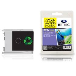 Jet Tec Brother Compatible LC970BK (19ml) Remanufactured Ink Cartridge