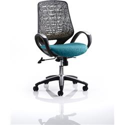Sprint Task Operator Chair Kingfisher Colour Silver Back With Arms Ref KCUP0575