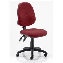 Eclipse II Task Operator Chair Chilli Colour Fabric Without Arms Ref KCUP0230