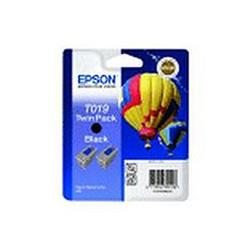 Epson T019 Black Inkjet Cartridge (Hot Air Balloon) Ref C13T019402 [Twin Pack]