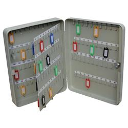 Key Cabinet Steel with Lock 160 Colour Tags 160 Numbered Hooks Grey