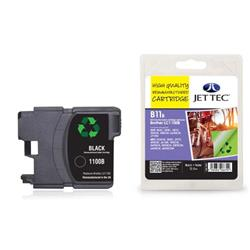Jet Tec Brother Compatible LC1100BK (12.5ml) Remanufactured Inkjet Cartridge