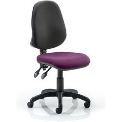 Eclipse II Task Operator Chair Purple Colour Seat Fabric Without Arms Ref KCUP0240