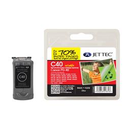 Jet Tec Canon Compatible PG-40 (26ml) Remanufactured Inkjet Cartridge