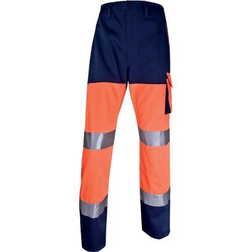 Foto Pantalone altavisibilità Delta Plusrancione fluo/blu - XXL - PHPANOMXX Pantaloni