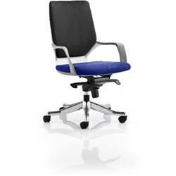 Xenon Executive Chair White Medium Back Serene Colour Seat With Arms Ref KCUP0619
