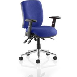 Chiro Task Operator Chair Medium Back Serene Colour With Arms Ref KCUP0115