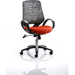 Sprint Task Operator Chair Pimento Colour Silver Back With Arms Ref KCUP0572