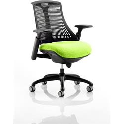 Flex Task Operator Chair Black Frame Black Back Swizzle Colour Seat With Arms Ref KCUP0282