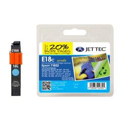 Jet Tec Epson Compatible T1802 (12ml) Remanufactured Inkjet Cartridge