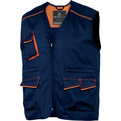 Foto Gilet multitasca Delta Plus - blu/arancione - XL - M6GILBMXG Gilet e giubbini
