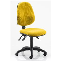 Eclipse III Task Operator Chair Sunset Colour Without Arms Ref KCUP0261